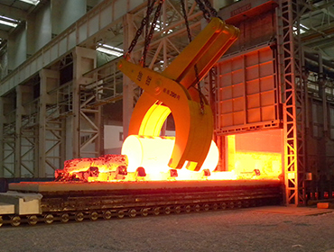 Heating furnace for nuclear power special trolley